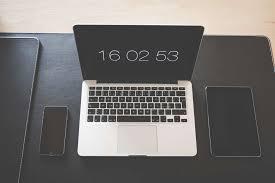 access apple devices black business cellphone puter desk