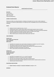 New Graduate Nurse Resume Examples Beautiful With No Experience Recent Grad Cover