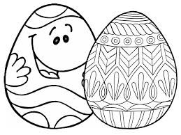 Cartoon Face Easter Eggs Coloring Pages