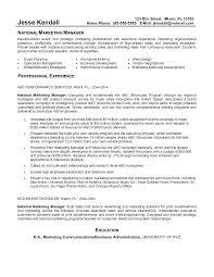 Sample Marketing Management Resume Internet