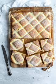 steppdeckenkuchen blechkuchen mit quarkgitter foodundco