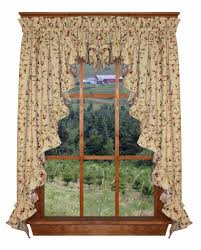 Jacobean Floral Country Curtains by Cherry Blossoms Curtan Collection Floral Print With Cherries
