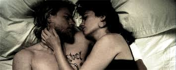 when they re all cuddled up in bed jax and tara sons of anarchy