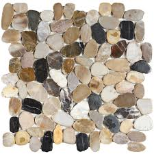 mosaic tile usa bati orient pebble interlocking mix polished