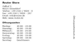 ᐅ öffnungszeiten reuter store zollhof 3 in düsseldorf