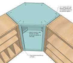 diagonal corner cabinet plans corner kitchen cabinet diy
