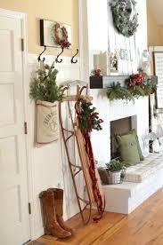 A Vintage Christmas Entryway Farmhouse Decor Sled