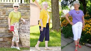 fashion for older women capri pants for the summer months
