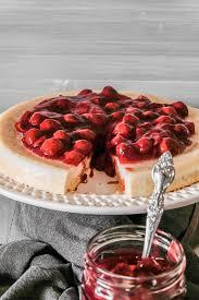 panna cotta kuchen mit schattenmorellen