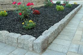 Absorbing Mulch Bed Ideas Stone Edgers Landscape Edging Ideas