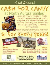 Operation Gratitude Halloween Candy Buy Back by Events North Aurora Il Dentist