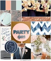 Blush Pink And Navy Blue Wedding Inspiration Ideas