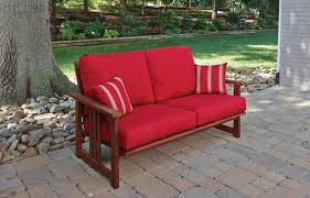 Menards Patio Furniture Cushions by Backyard Creations Ashland Patio Loveseat At Menards