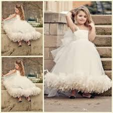 2015 cute ball gown flower girl dresses weddings bow spaghetti