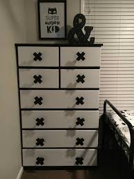 Modernizing a set of drawers for a kids room using the Kmart cross