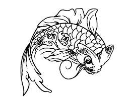 Koi Fish Look Angry Coloring Pages