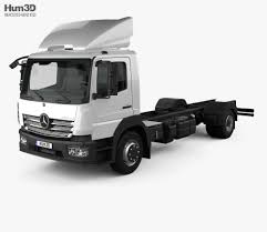 100 Benz Truck 2013 Mercedes Atego 1530 MCab Chassis 3D Model
