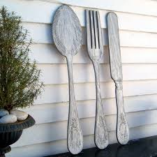 Apple Kitchen Decor Canada by Paints Apple Spoon And Fork Wall Decor With Big Kitchen Fork And