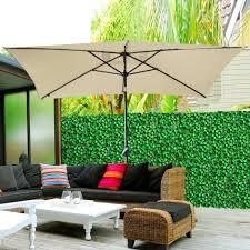 Solar Powered Patio Umbrella Led Lights by 10 U0027x6 5 U0027 Patio Solar Umbrella Led Light Tilt Deck Waterproof