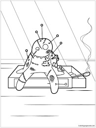 Voodoo Doll Coloring Page