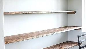 Diy Dining Room Shelves Thick Floating Wall Lovely Open Shelving