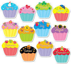 Cupcake clipart monthly 9