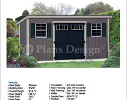 8x10 Shed Plans Materials List by 8 U0027 X 10 U0027 Garden Storage Modern Roof Style Shed Plans Blueprints
