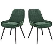 elightry 2 stücke esszimmerstühle retro küchenstuhl wohnzimmerstuhl sitzfläche aus samt retrostuhl mit metallbeine besucherstuhl stuhl für esszimmer