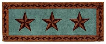 Amazon HiEnd Accents Western Star Print Rug 24 By 60 Inch Turquoise Home Kitchen