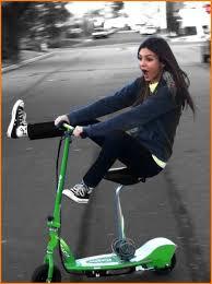 Victoria Justice Rides Razor E200S