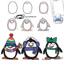 Best 25 How To Draw Penguins Ideas On Pinterest