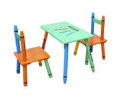 Crayon Childrens Table And 2 Chairs Set