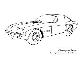 Cars Coloring Page Lamborghini Islero