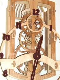 clock with wooden gears home the living room pinterest