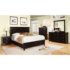 Queen Bed Stand by Furniture Of America Spruce Bedroom Set In Espresso Finish Local