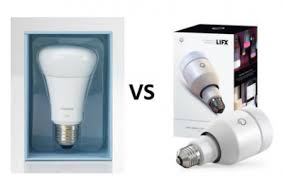 the philips hue vs lifx smart leds compared all home robotics