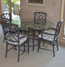 Meadowcraft Patio Furniture Cushions by Vintage Meadowcraft Faux Bamboo Table And Chairs Ebth