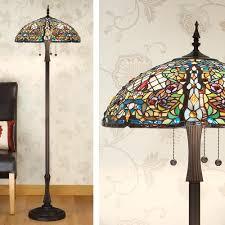 Wayfair Tiffany Floor Lamps by Interiors 1900 63900 Anderson Tiffany Floor Lamp Lamparas