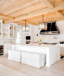100 Wood Cielings White Kitchen With Light Wood Ceilings In This Beach House