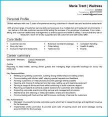 Waitress Cv How Write A Resumes Restaurant Waiter Resume Sample For