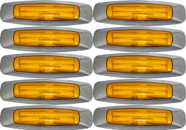 10x Amber LED Marker Lights With Chrome Bezels Freightliner ... 25 Oval Truck Led Front Side Rear Marker Lights Trailer Amber 10 Xprite 7 Inch Round Super Bright 120w G1 Cree Projector 4 Rectangular Lamp Light For Bus Boat Rv 12 Clearance Speedtech 12v 3 Indicators 4pcs In 1ea Of An Arrow B52 55101 Amber Marker Lights Parts World Vms 0309 Dodge Ram 3500 Bed Side Fender Dually Marker Lights 1pc Red Car Led Truck 24v Turn Signal 2018 24v 12v For Lorry Trucks 200914 F150 Front F150ledscom Tips To Modify Vehicle With Tedxumkc Decoration