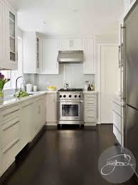 White Kitchen Cabinets Dark Hardwood Floors
