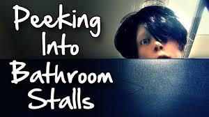 peeking into bathroom stalls prank almost got shot youtube