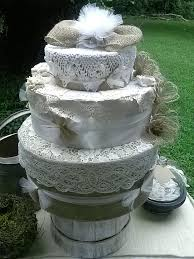 Fake Wedding Cake Burlap And Lace Rustic Decor 3 Tiered Hat Box Faux
