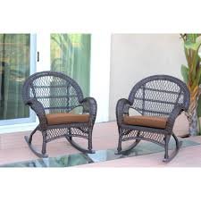 Santa Maria Espresso Wicker Rocker Chair With Brown Cushion - Set ... 3piece Honey Brown Wicker Outdoor Patio Rocker Chairs End Table Rocking Luxury Home Design And Spring Haven Allweather Chair Shop Abbyson Gabriela Espresso On 3 Piece Set Rattan With Coffee Rockers Legacy White With Cushion Fniture Cheap Dark Find Deals On Hampton Bay Park Meadows Swivel Lounge