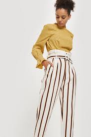 Multi Coloured Stripe Tapered Trousers