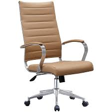 Shop 2xhome -Modern Tan High Back Office Chair Ribbed PU Leather ... Boss Executive Button Tufted High Back Leatherplus Chair Bosschair China Adjustable Office Hxcr018 Guide How To Buy A Desk Top 10 Chairs Highback Modern Style Ergonomic Mesh Lovely Chesterfield Directors Oxblood Leather Captains Black Swivel With Synchro Tilt Shop Traditional Free Shipping Luxuary Mulfunctional Luxury Huntsville Fniture