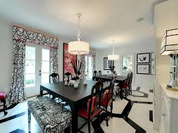 Dining Room Decorating Ideas Black Table Centerpiece