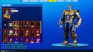 New Thanos Fortnite Skin