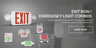 emergency lights fixtures and led exit signs shop emergency